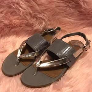 Sperry Top-Sider Gray and Silver Sandals